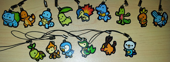 "15x Pokemon Charms from my ""Ditto Series"""
